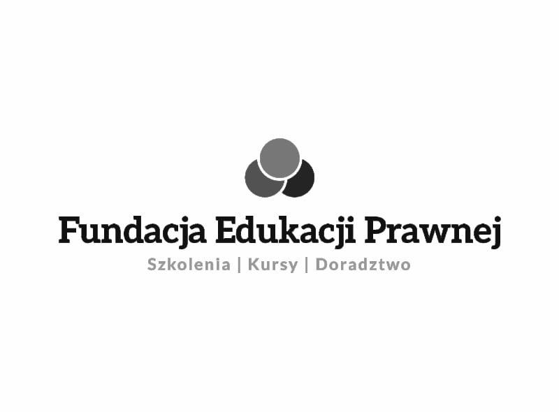 Logo Fundacji Edukacji Prawnej - jednego z naszych klientów