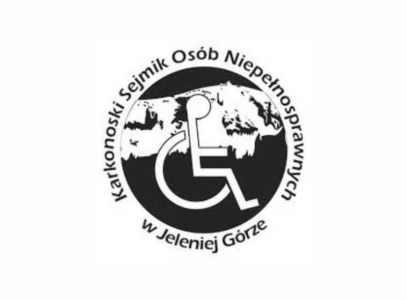 Logo Karkonoskiego Sejmiku Osób Niepełnosprawnych - jednego z naszych klientów